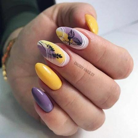 Дизайн ногтей миндаль 2021. Более 200 фото новинок модного и красивого маникюра