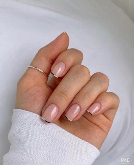 Французский маникюр 2022 - модные фото новых моделей ногтей. Более 100 фото