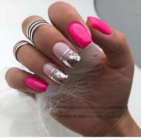 Красивый розовый маникюр 2020-2021. Фото трендового дизайна на короткие и длинные ногти