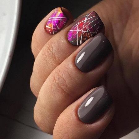 Осенний маникюр 2021 на короткие ногти. Более 100 фото модного дизайна ногтей