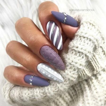 Новогодний маникюр 2022 - модные тенденции красивого дизайна ногтей. Более 100 фото
