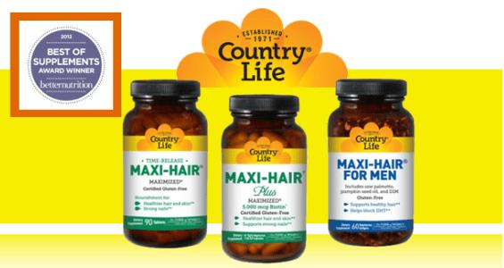 Витамины для волос «Maxi-Hair» от Country Life: полный состав, инструкция по применению и отзывы