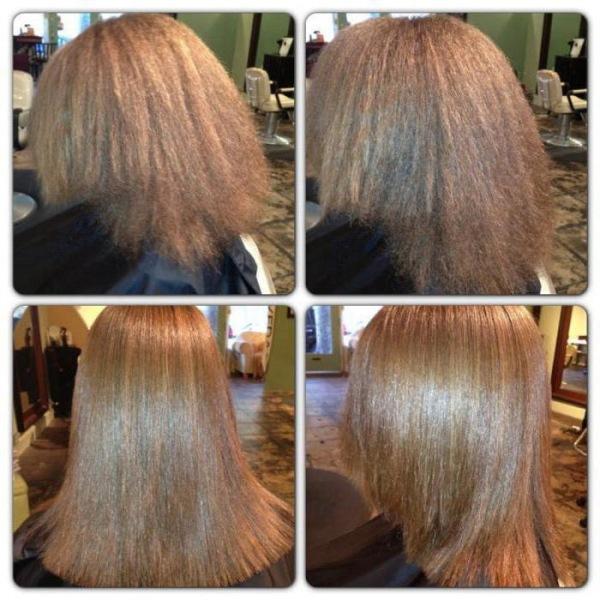Нитки - это обработка кончиков волос специальными ножницами. Парикмахер