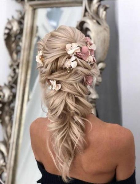 Свадебные прически 2019: фото стильных и красивых идей на короткие, средние и длинные волосы