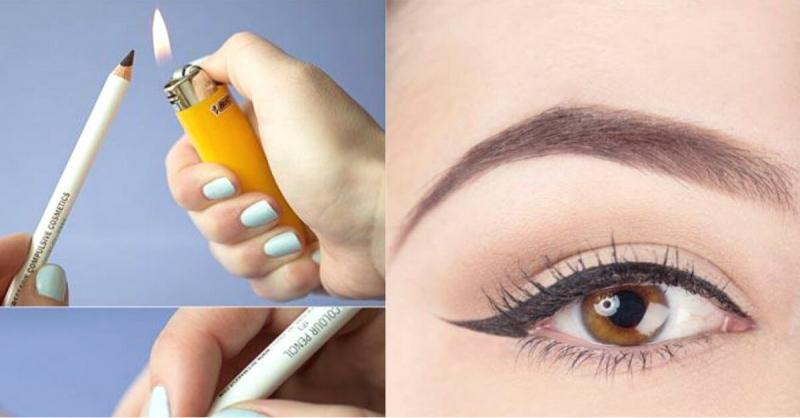 Зачем греть карандаш зажигалкой: простой трюк в макияже, который здорово помогает женщинам